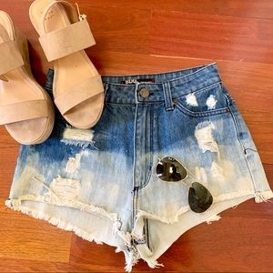 Urban Outfitters BDG high wasted ombré jean shorts